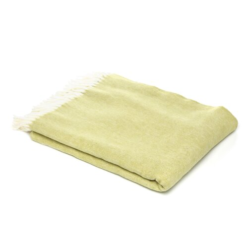 Assiro Herringbone Cotton / Acrylic Throw in Lemongrass