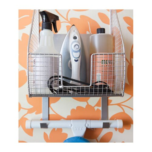 Spectrum Diversified Ironing Board Holder with Basket