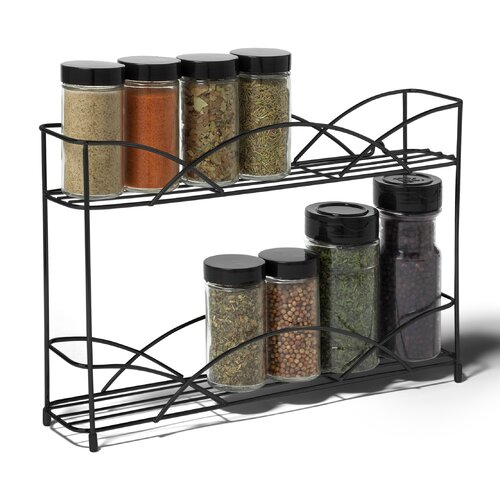 Spectrum Diversified Euro Wall Mounted Spice Rack In Satin