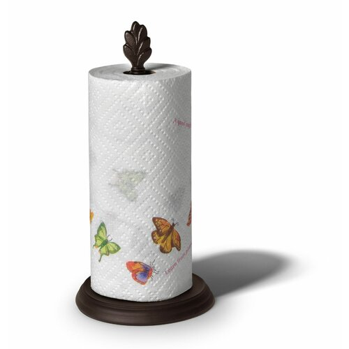 Spectrum Diversified Leaf Paper Towel Holder in Bronze