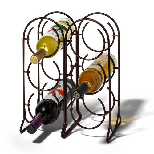 Spectrum Diversified Horseshoe 6 Bottle Tabletop Wine Rack