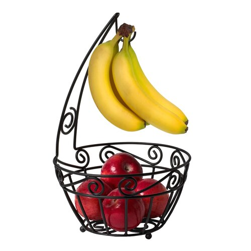 Scroll Pantryware Fruit Tree in Black