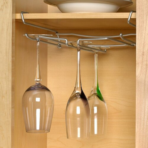 Under-The-Shelf Stemware Holder in Chrome