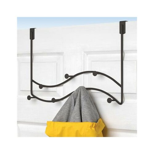 Spectrum Diversified Sweep Over the Door Double Coat Rack