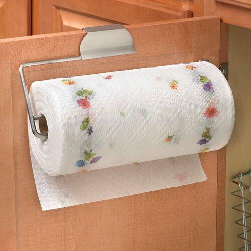 Spectrum Diversified Over the Door Paper Towel Holder in Brushed Nickel