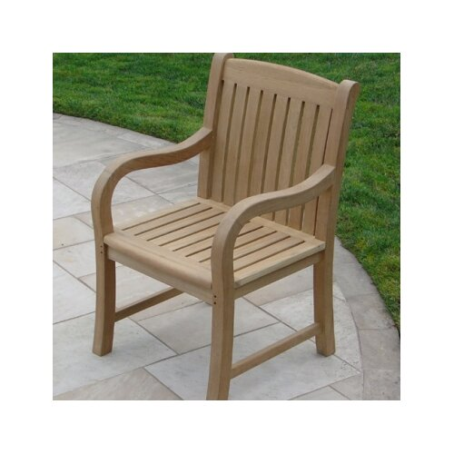 Royal Teak by Lanza Products Teakwood Roll Dining Arm Chair