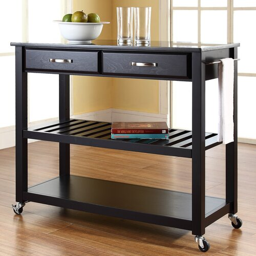 Crosley Kitchen Cart with Granite Top