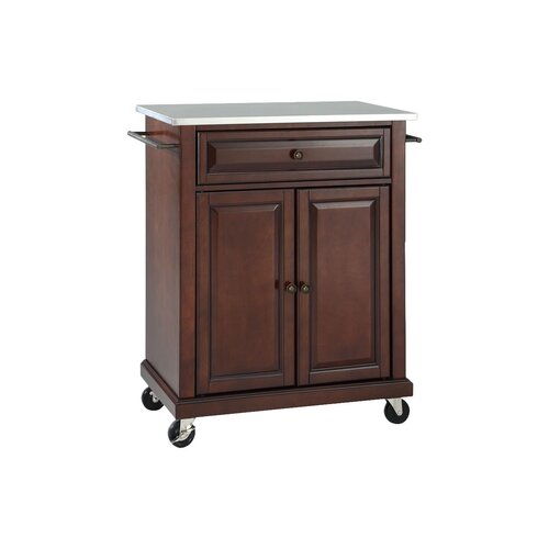 crosley kitchen cart with stainless steel top reviews