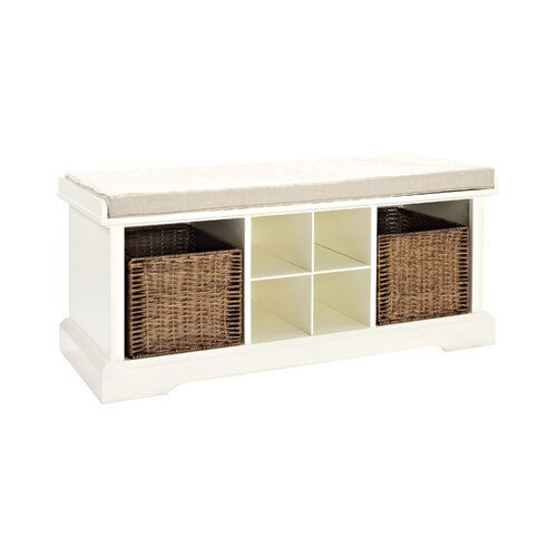 Crosley Brennan Wood Entryway Storage Bench & Reviews | Wayfair