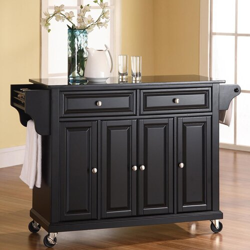 Crosley Furniture Alexandria Wood Top Kitchen Island In: Crosley Alexandria Kitchen Island With Granite Top