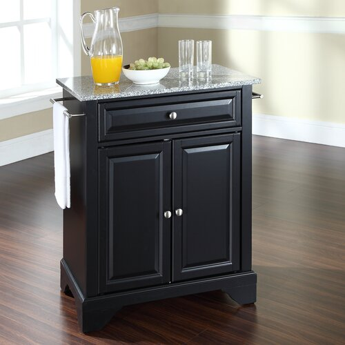 Crosley lafayette kitchen island with granite top amp reviews wayfair