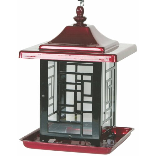 Homestead/Gardner Mosaic Decorative Hopper Bird Feeder