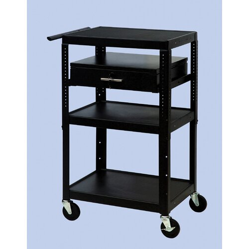 VTI Wide Body Adjustable Equipment TV Cart