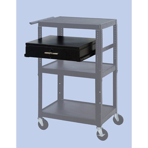 VTI Wide Body Adjustable Equipment TV Cart
