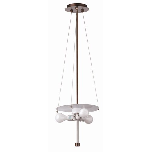 Philips Forecast Lighting Taylor Three Light Pendant Holder in Merlot Bronze
