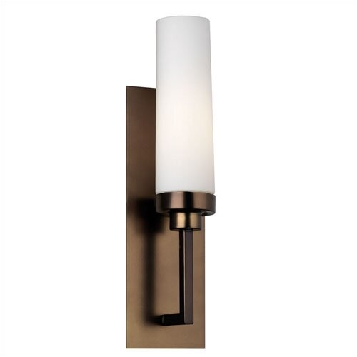 """Philips Forecast Lighting 3.5"""" Nicole Glass Drum Wall Sconce Shade"""