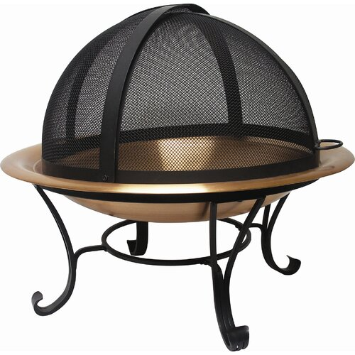 Corral Copper Fire Pit Set with Easy Access Screen