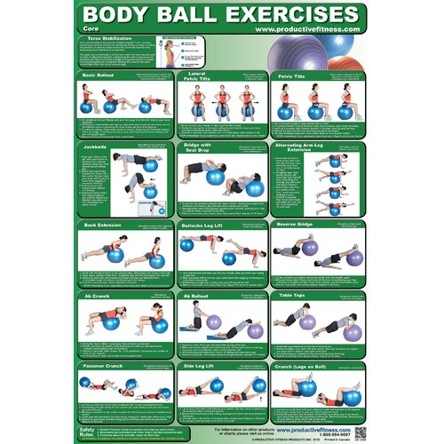 Productive Fitness Publishing Ball Poster - Core Body