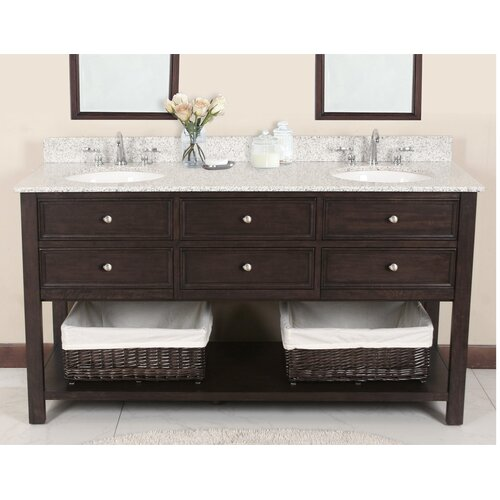 "Lanza Camber 72"" Vanity Set with Backsplash"