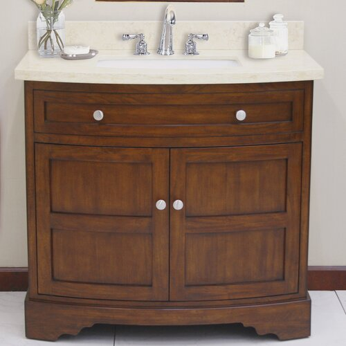 "Lanza Sligo 38"" Vanity Set with Backsplash"