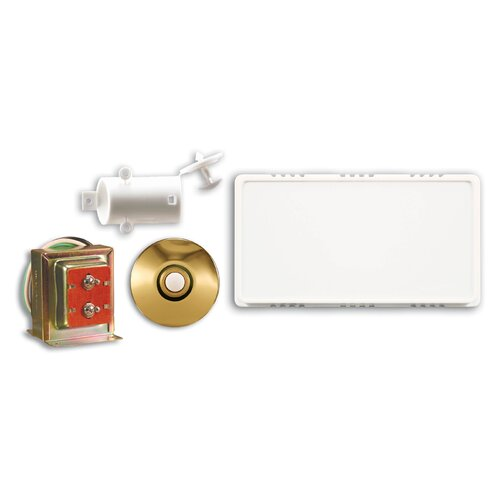Wired Door Chime Contractor Kit with Stucco Push Button