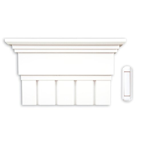 Heath-Zenith Wireless Battery Operated Door Chime Kit with White Column Cover