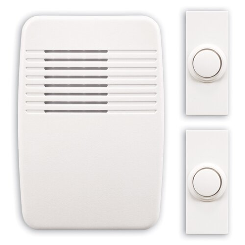Heath-Zenith Wireless Plug-In Door Chime Kit with Two Push Buttons