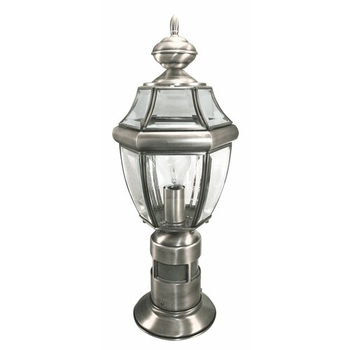 Heath Zenith 1 Light 8 Quot Outdoor Post Lantern With Motion