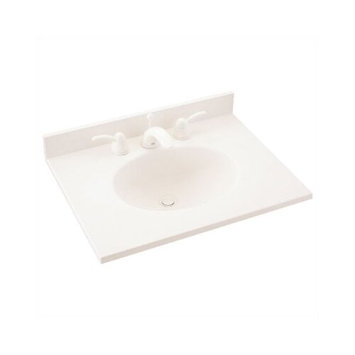 "Swanstone Everyday Essentials 25"" Ellipse Single Bowl Vanity Top"