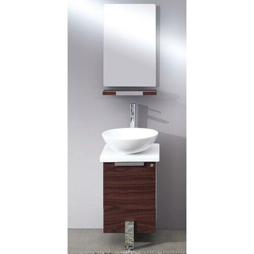Adour 17 Single Modern Bathroom Vanity Set With Mirror