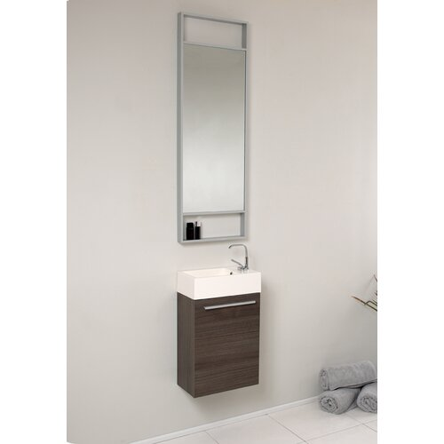 senza 15 5 pulito small modern bathroom vanity set with tall mirror