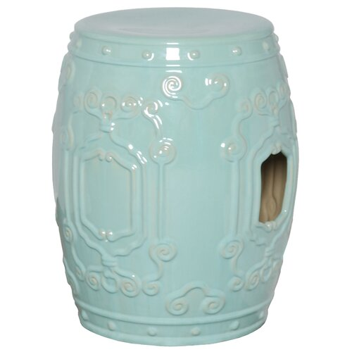 Emissary Home and Garden Cloud Scroll Garden Stool