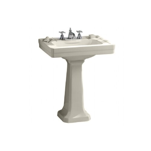 Porcher Lutezia Pedestal Bathroom Sink Set
