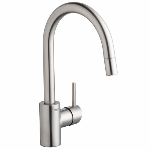 grohe concetto pull down dual spray kitchen faucet. Black Bedroom Furniture Sets. Home Design Ideas