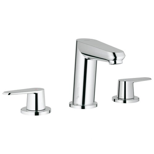 Eurodisc Widespread Bathroom Sink with Double Lever Handles