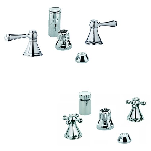 Grohe Geneva Vertical Spray Widespread Bidet Faucet Less Handles
