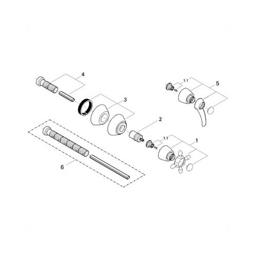 Grohe Talia Volume Control Trim with Lever Handle