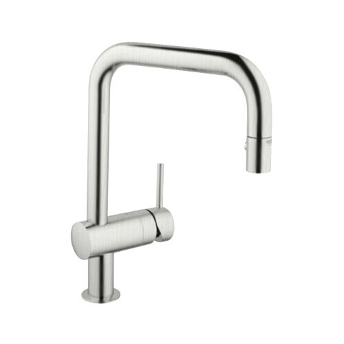 Minta High Profile Single Handle Single Hole Kitchen Faucet with Pull Down Spray