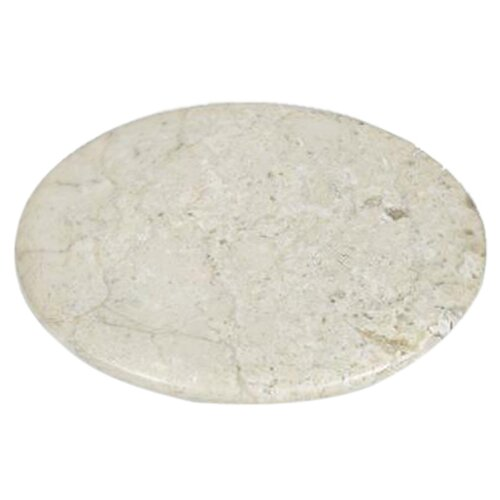 VICTOR Champagne Marble Lazy Susan in Natural