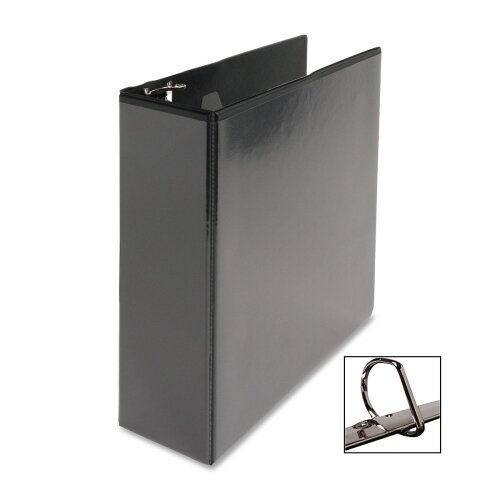 "Business Source D-Ring View Binder, 3"" Capacity, Black"