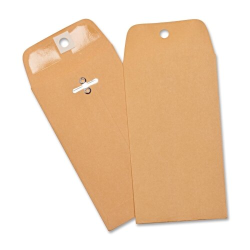 Business Source Heavy-duty Clasp Envelopes,100 per Box,Brown Kraft