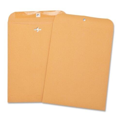 "Business Source Hvy-duty Clasp Envelopes,8-3/4""x11-1/2"",100 per Box,Brown Kraft"