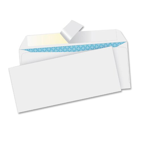 Business Source Business Envelopes, No. 10, Peel/Seal, 5 00 per Box, White