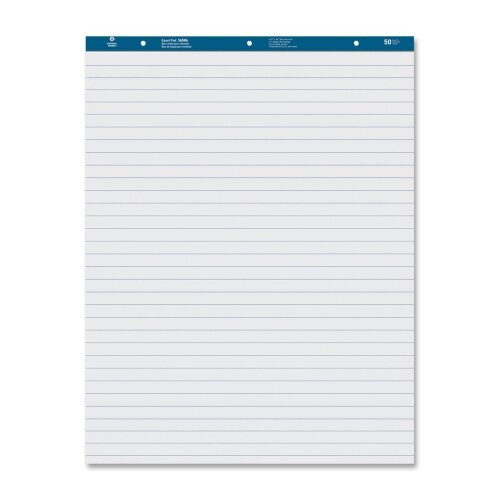 "Business Source Easel Pad, Ruled, 50 Sheets, 27""x34"", 2 Count, White"