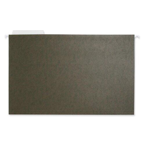 Business Source Hanging File Folder, Legal, 11 Pt., 1/3 Cut, 25 per Box, Green