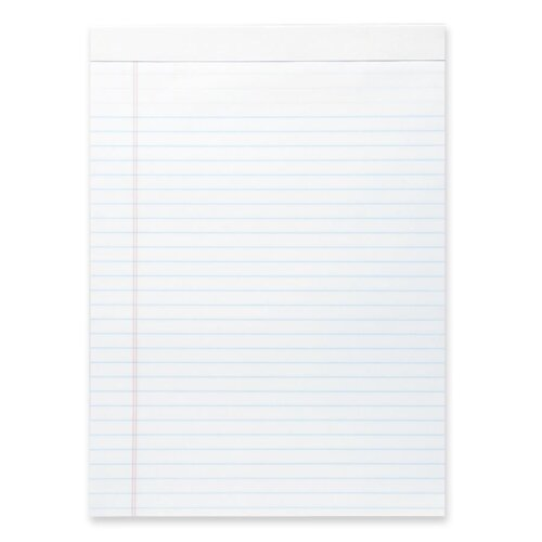 """Business Source Micro-Perforated Pad, Legal Ruled, 50 Sheets, 8-1/2""""x11-3/4"""", White, 12-Pack"""