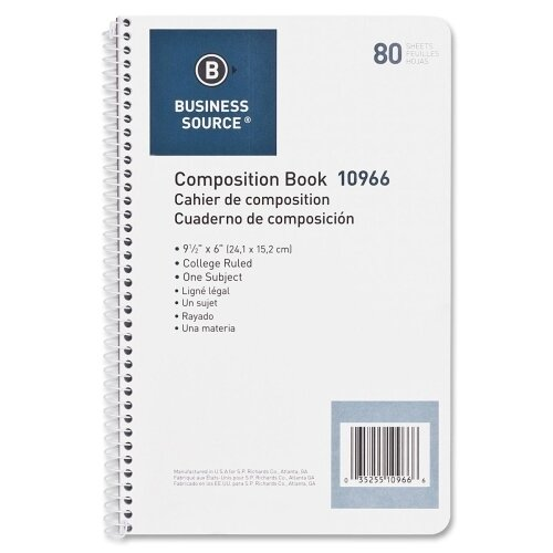 Business Source 80 Sheet Composition Book