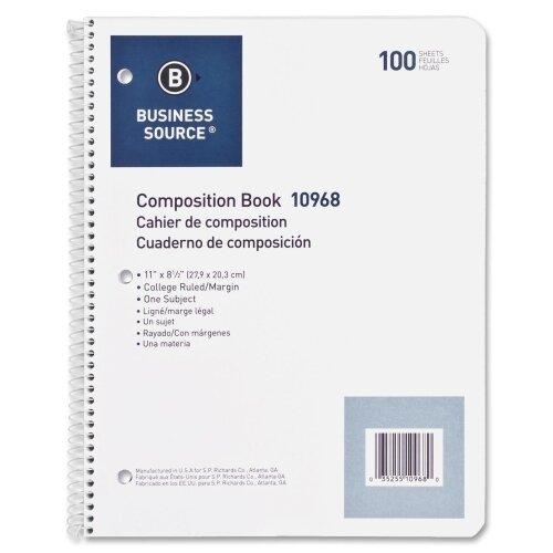 Business Source 100 Sheet Notebook