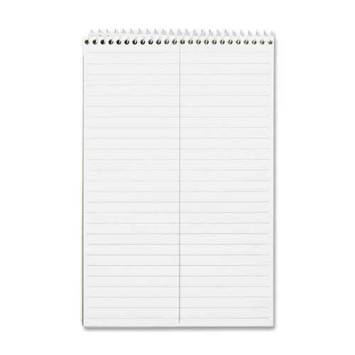 "Business Source Wirebound Steno Notebooks, Greg Ruled, 6""x9"", 60 Sheets, White Paper"