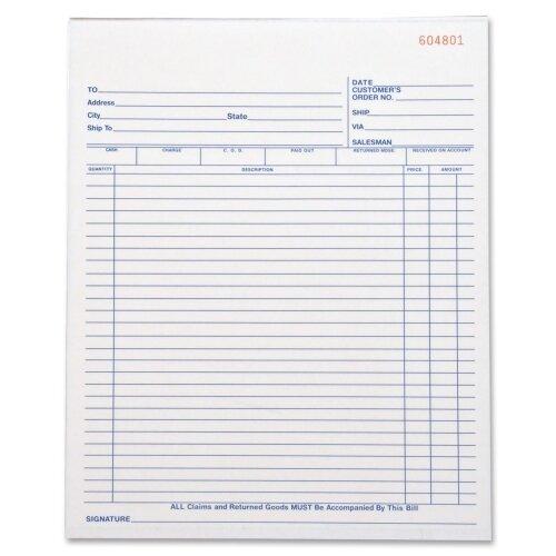 Business Source 50 Sheet All-Purpose Triplicate Form Book